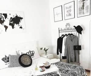 bedroom, clothes rack, and decoration image