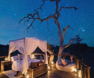 night, stars, and travel image