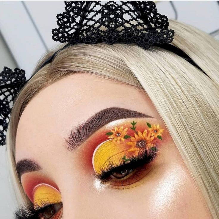 Flowered Eye Makeup Look Shared By Purple Asian