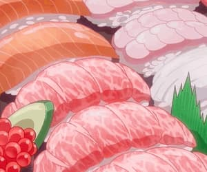 anime, pastel, and pink fish image