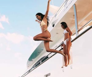 summer, boat, and girls image