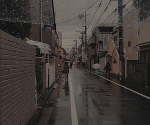 aesthetic, theme, and rain image
