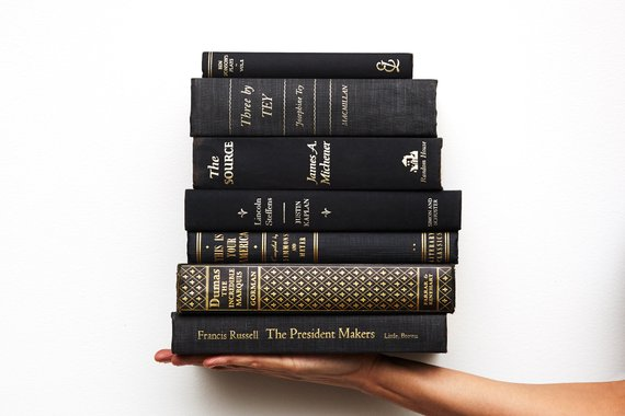Black Books By The Foot For Shelf Decor Old Books For
