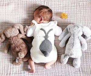 baby, bunny, and newborn image