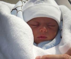 baby, newborn, and sleepy image