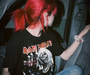girl, red hair, and aesthetic image