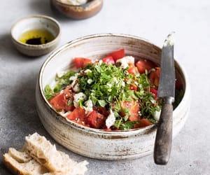 bread, food, and salad image