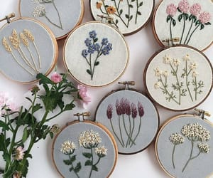 aesthetic, embroidery, and flowers image