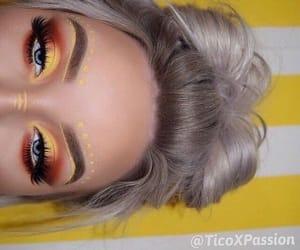 makeup, beauty, and eyeshadow image