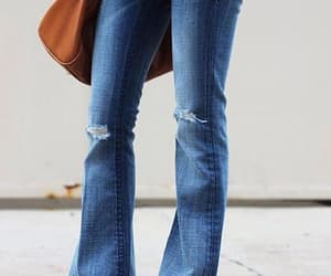 bell bottoms, jeans, and 90s style image