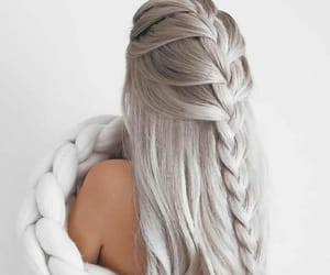 beauty, grey, and gray hair image