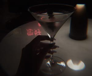 drink, red, and aesthetic image