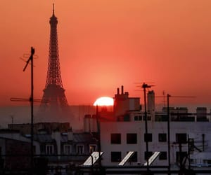 paris, roofs, and sunset image