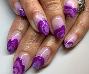 crystals, nails, and purple image