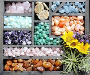 crystals, flowers, and spiritual image