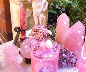 candles, spiritual, and rosequartz image