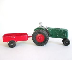 etsy, little red wagon, and vintage arcade toy image