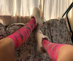 aesthetics, long socks, and smoothie image