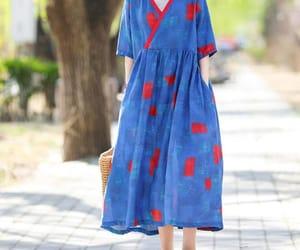 blue dress, womens dresses, and maxi dress summer image