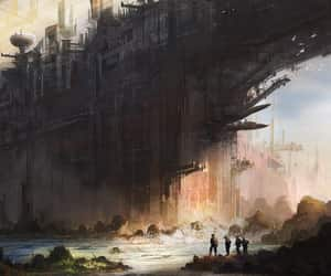 futuristic, huge, and structure image