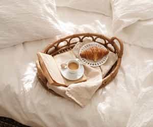 bedroom, book, and breakfast image
