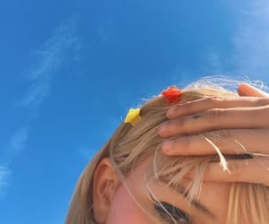 aesthetic, hair, and sky image