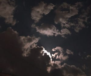 cloud, clouds, and moon image
