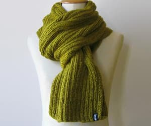 etsy, mustard yellow, and autumn scarf image