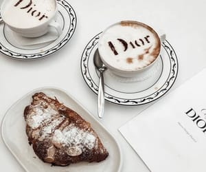 chic, dior, and coffee image