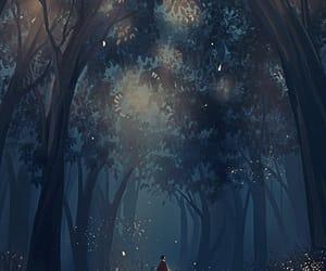 drawing, illustration, and night image