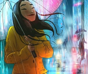 drawing, rainy, and illustration image
