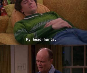 eric forman, red forman, and that 70's show image
