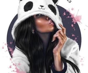 animation, drawing, and panda image