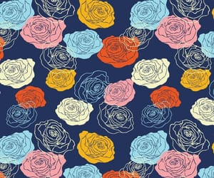 flower pattern, roses pattern, and roses design image