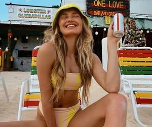 beach, fashion, and swimwear image