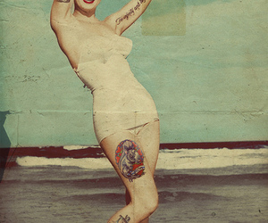 tattoo, Marilyn Monroe, and vintage image