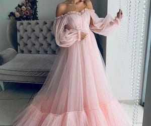 pink, dress, and fashion image