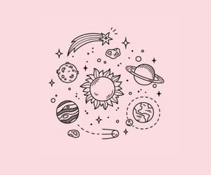 wallpaper, space, and pink image