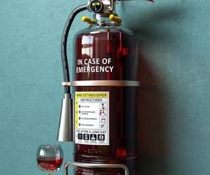 wine and emergency image