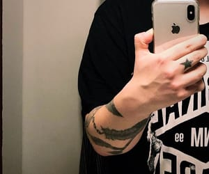 hand, hands, and tattoo image
