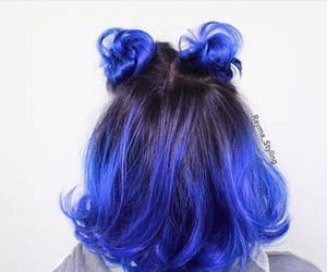 art, blue, and buns image