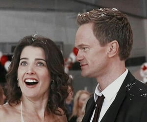 barney, how i met your mother, and couple image