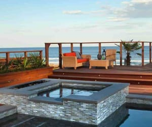 hot tub, inspiration, and outdoor living image