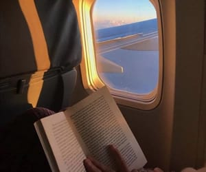 book, sky, and plane image