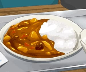 anime, pastel, and curry image