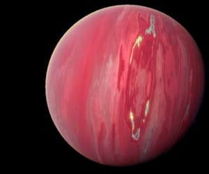planet, pink, and space image