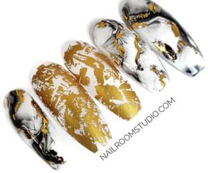 nail art, marble nails, and custom nails image