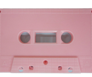 cassette, pink, and pink cassette image