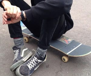 grunge, skateboard, and boy image