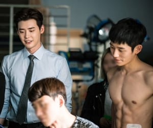 while you were sleeping, lee jong suk, and jung hae in image